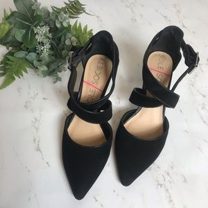 Sole Society | Black Ankle Strap Heels